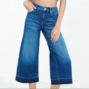Express • High Rise Culottes Wide Leg Jeans